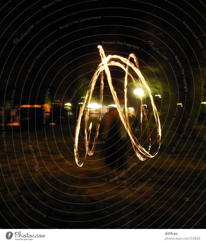 The Fire Circle Juggle Night Dark Dangerous Light Fairs & Carnivals Yellow Black Blaze jonleur Bright Movement Dynamics Threat Lamp
