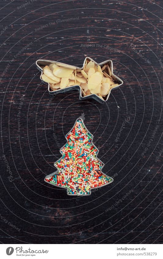 adornment Feasts & Celebrations Christmas & Advent Multicoloured Star (Symbol) Meteor Christmas tree Almond almond slivers Granules cookie cutter Cookie Table