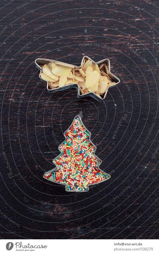 Christmas & Advent Wood Feasts & Celebrations Table Star (Symbol) Christmas tree Cookie Meteor Granules Almond
