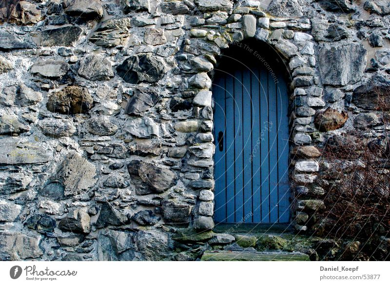 Blue Stone Wall (barrier) Door Closed Tower Gate Entrance Archway Natural stone Ravensburg
