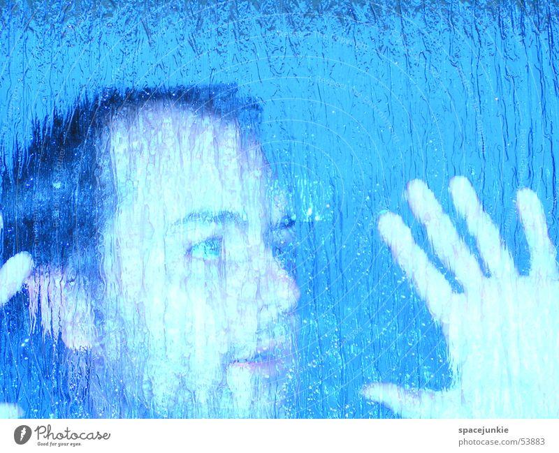 Blurred Pane Crazy Glass Blue Face