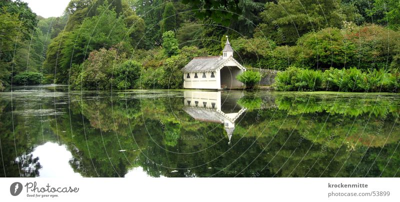 milked England Lake Park Boathouse Green Reflection Tree Forest Panorama (View) Calm Individual Relaxation Romance Water Nature trees recovering repose silence