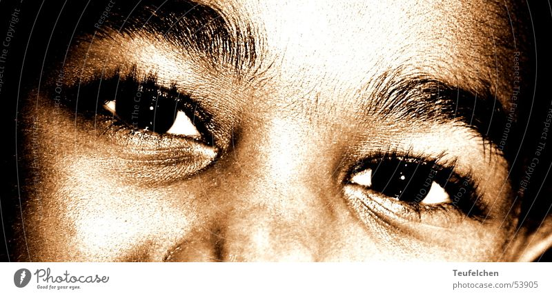 children's eyes Child Girl Africa African-American Kindergarten Skin color Sweet Eyes Face Partially visible Laughter