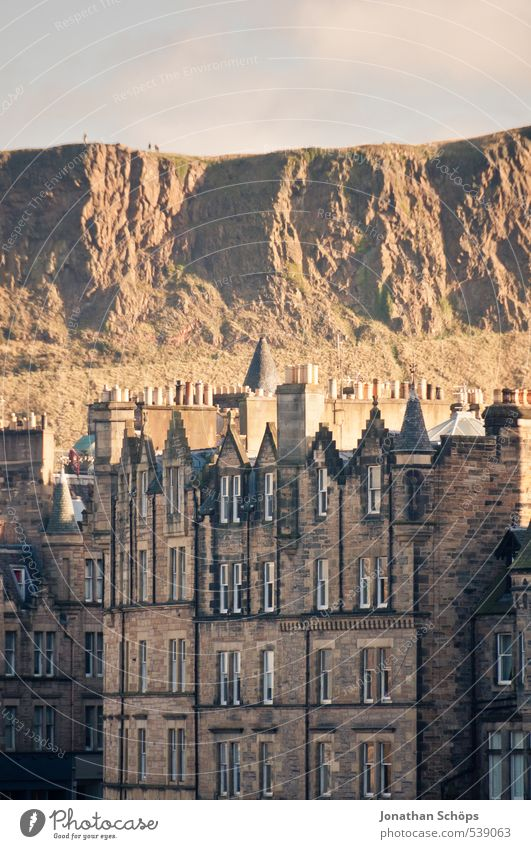 Edinburgh IX Scotland Great Britain Town Capital city Old town Skyline Populated House (Residential Structure) Manmade structures Building Architecture Roof