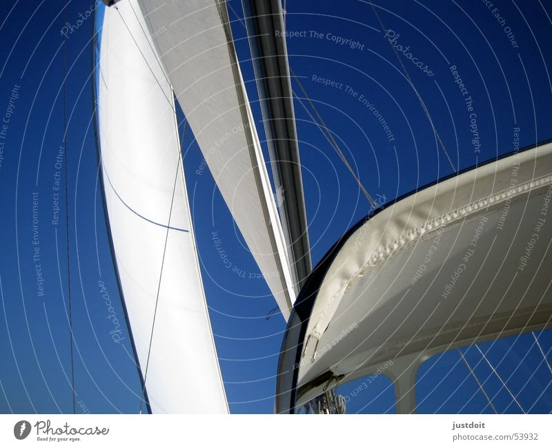 Wind in the sails Sailing White Watercraft Vacation & Travel Ocean Ijsselmeer Sky Blue Freedom Electricity pylon ship vessel boat vacation holiday seas