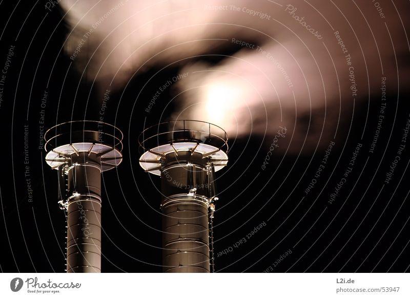 Black 2 Metal Circle Modern Technology Smoke Pipe Silver Handrail Chimney Column Grating