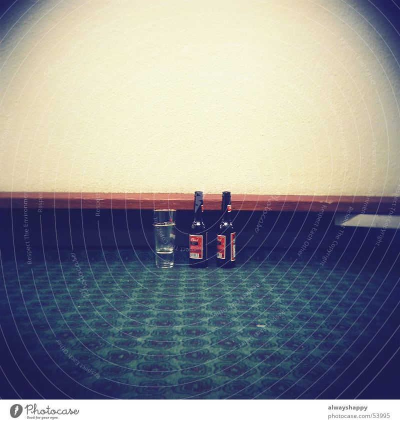 Loneliness Glass Gloomy Beer Hotel Boredom Carpet Frustration Alcoholism Lomography Tunnel vision