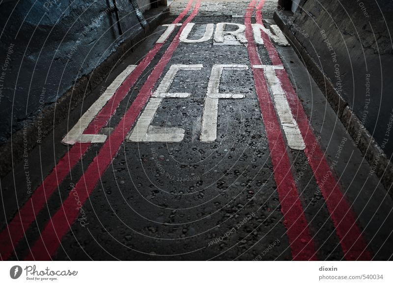 left turn-off London England Great Britain Town Capital city Downtown Deserted Transport Traffic infrastructure Road traffic Street Highway ramp (exit)