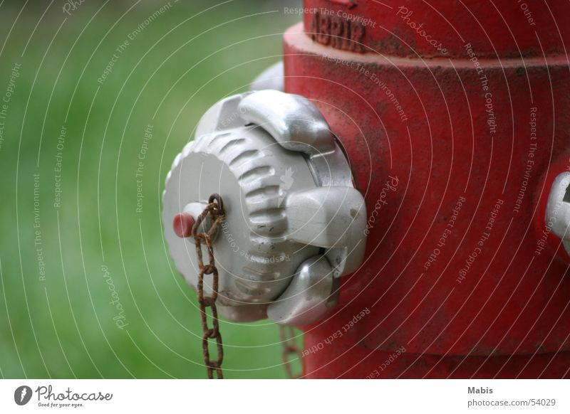 For the fire brigade Red Green Things Fire hydrant Water Silver Chain