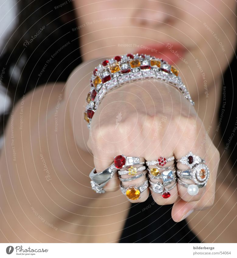 jewellery power Ruby Precious stone Gold alloy Jewellery Woman Gift Fist Hand Glittering Feminine Expensive Bracelet Multicoloured Brillant Lips Glamor Impulse