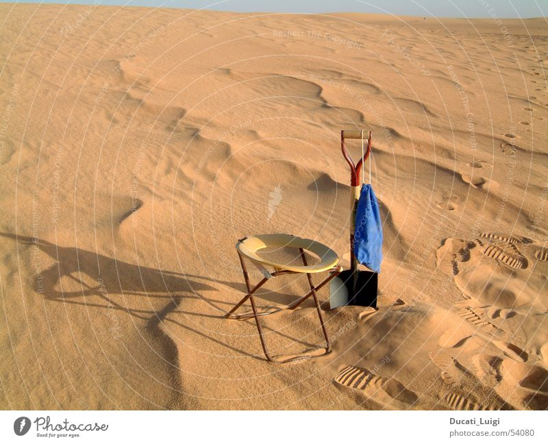 Vacation & Travel Sand Adventure Simple Africa Desert Toilet Beach dune Shovel Sahara Offroad vehicle Niger Algeria Ténéré desert