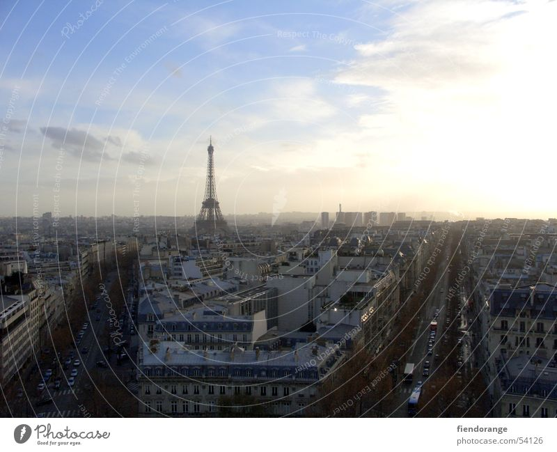 City Paris Air Avenue Eiffel Tower Arc de Triomphe