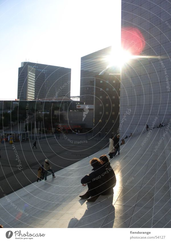 Sun Relaxation High-rise Paris France La Grande Arche