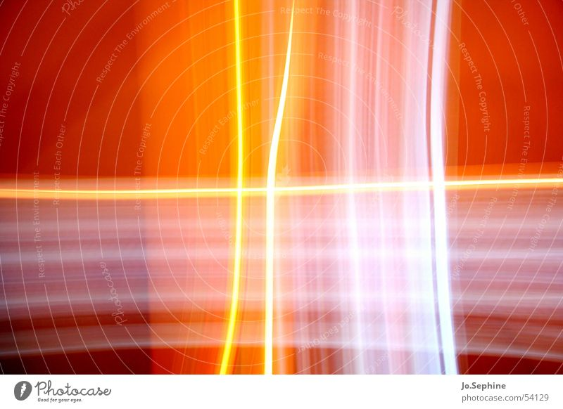 cross of light Design Crucifix Line Colour Innovative Crossed Transparent Translucent Visual spectacle Play of colours Illusion Structures and shapes Pattern