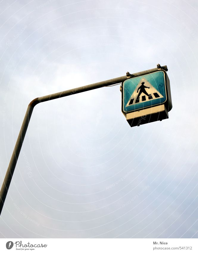The 7th sense Environment Sky Clouds Road traffic Pedestrian Road sign Tall Pedestrian crossing Zebra crossing Signage Upward Looking up Signs and labeling