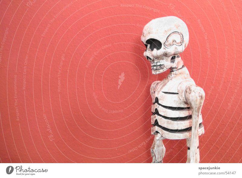 Red Wall (building) Death Eerie Skeleton Death's head