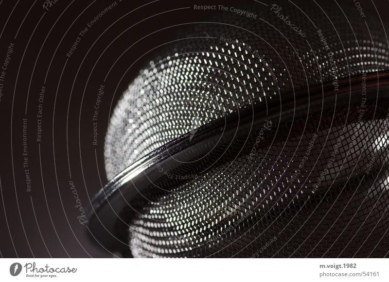 Dark Gray Metal Glittering Round Net Tea Iron Planet Reticular Sieve Orbit