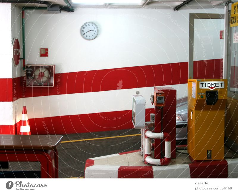 underground car park Underground garage Garage Red London Underground Car