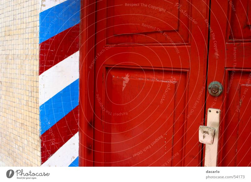City Red Door Stripe
