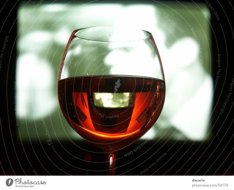 Glass TV set Wine Mirror Wine glass