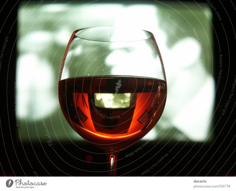 wine glass Wine glass TV set Reflection Mirror Glass