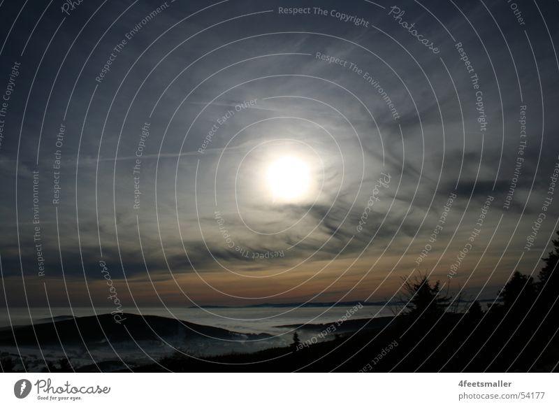 Blue Sun Clouds Fog Horizon Tree Thuringia Wind Bread Node Mountain