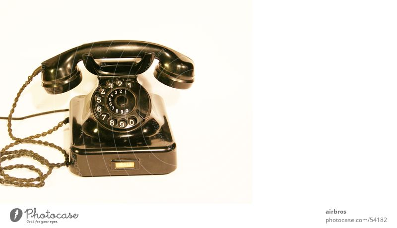 who is ringing? Telephone The fifties Antique Antiquarian Old