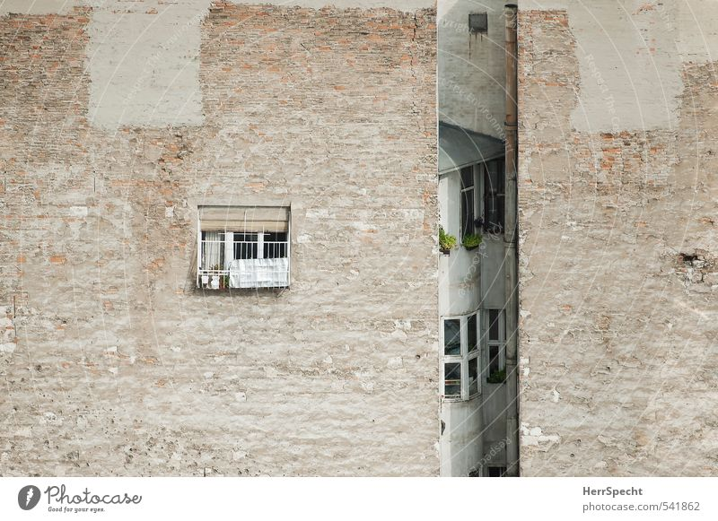 City Loneliness House (Residential Structure) Window Wall (building) Wall (barrier) Architecture Building Gray Exceptional Brown Facade Flat (apartment)