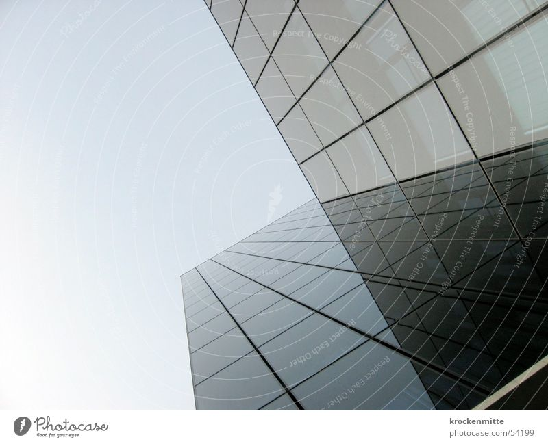 Skyscraper I Love You High-rise Window Reflection Large House (Residential Structure) Glas facade Towering Glass Line Tall office building to tower architecture