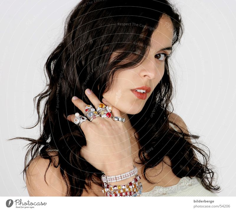 Woman Hand Beautiful Joy Colour Eyes Feminine Hair and hairstyles Lamp Power Mouth Glittering Skin Gift Circle Teeth