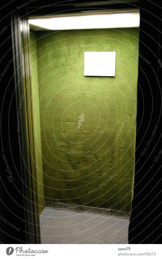 downwards Elevator Green Light Velvet Dark