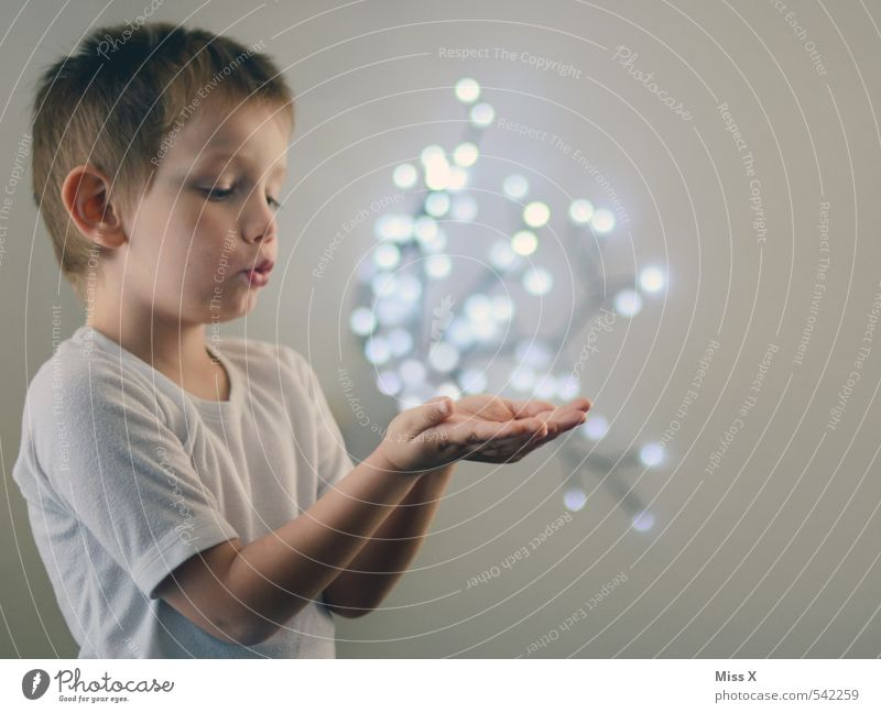 Human being Child Hand Joy Emotions Boy (child) Happy Dream Moody Flying Masculine Glittering Infancy Illuminate Energy industry Future
