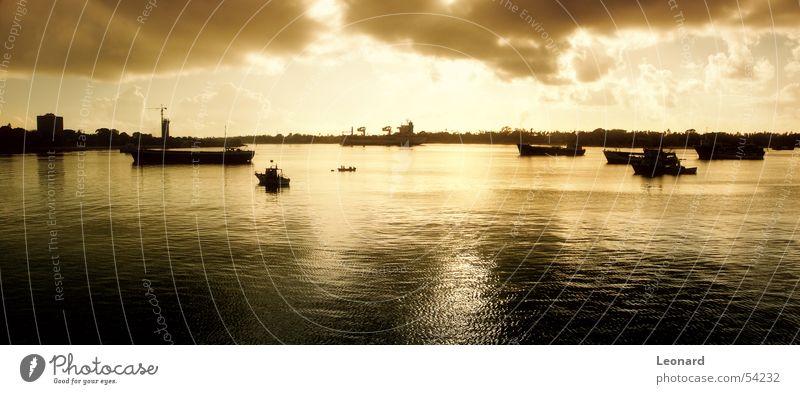 Sky Sun Ocean Clouds Watercraft Africa Harbour Sail Sailing ship Port