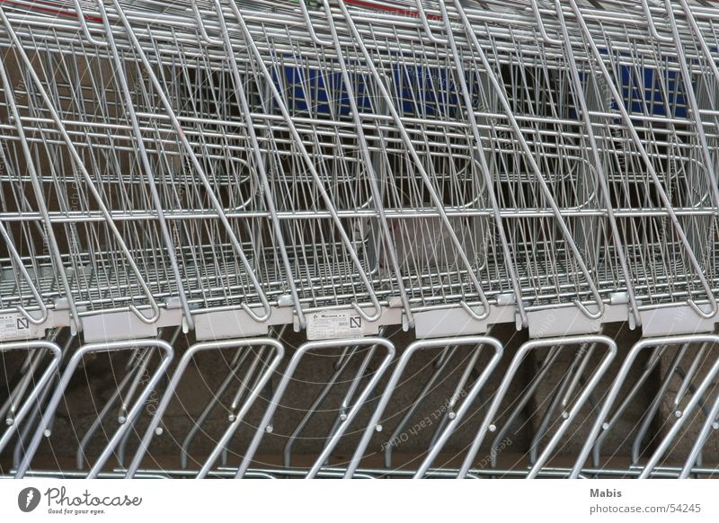 Silver Grating Supermarket Shopping Trolley
