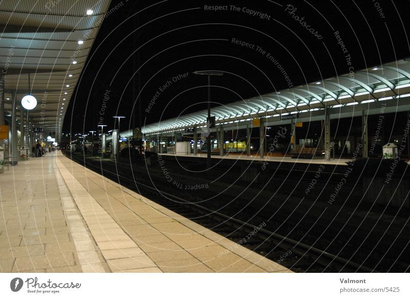 Railroad Europe Railroad tracks Train station Freiburg im Breisgau