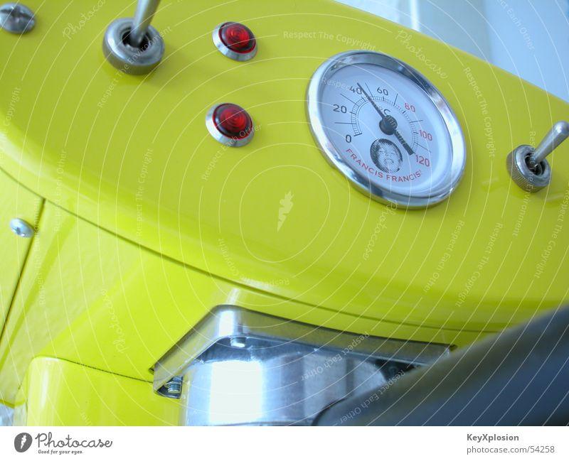 Yellow Coffee Machinery Desire Switch Espresso Classic Coffee maker Pressure gauge Caffeine addiction