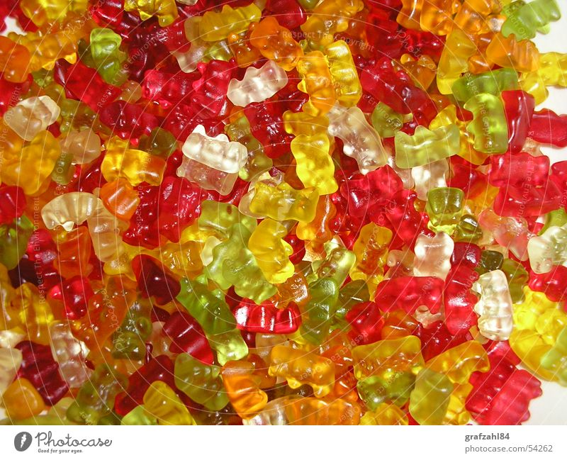 gummy bear band Gummy bears Wine gum Mixture Rainbow Fruity Red Yellow Green Muddled Chaos Sweet Juicy Fresh Nutrition Toothache Colour Funny 1.80dm Lamp