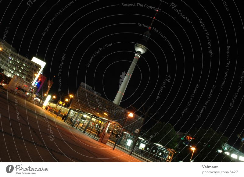 alexanderplatz Alexanderplatz Night Long exposure Light Architecture Berlin Berlin TV Tower
