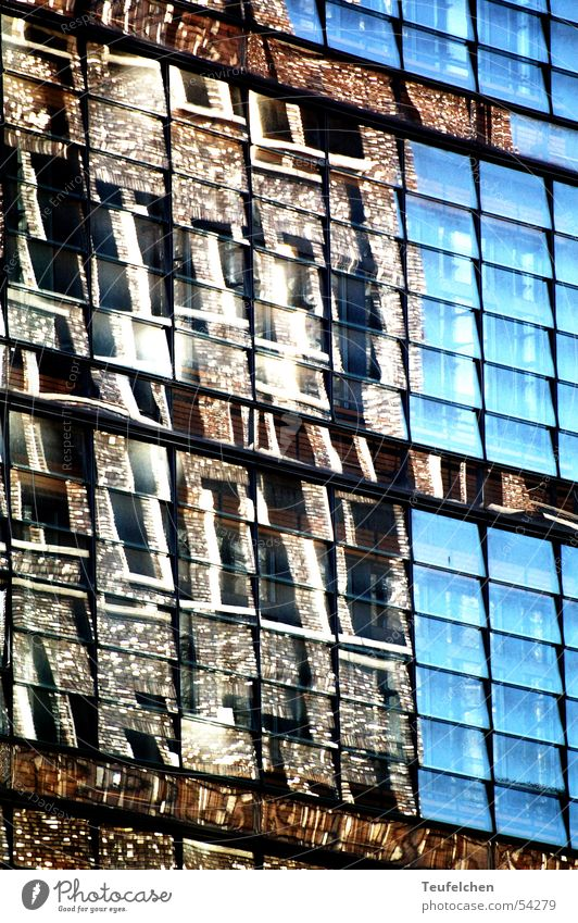 window mirror Potsdamer Platz House (Residential Structure) Window Mirror Story Square Capital city Reflection Sun Work and employment Quarter Glass