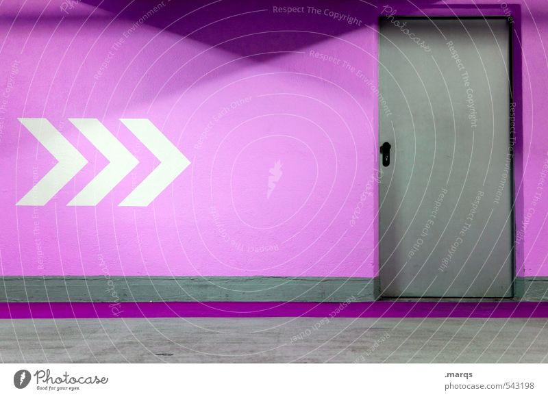White Colour Wall (building) Lanes & trails Interior design Wall (barrier) Gray Style Line Door Design Signs and labeling Target Violet Arrow