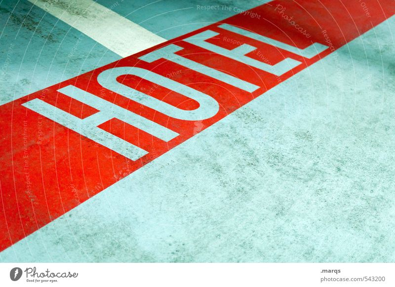 Vacation & Travel Red Gray Style Bright Characters Concrete Simple Stripe Hotel Services Commerce Ground markings