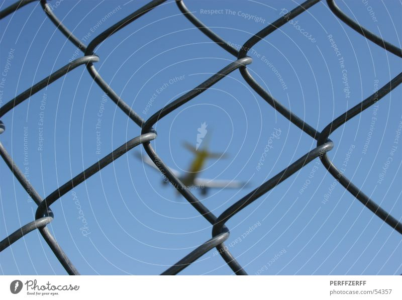 restricted zone Airplane Fence Barrier Wire netting fence Vacation & Travel Sky Jet holidays at home