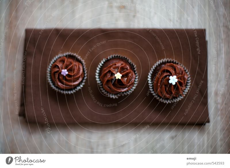 cup-cup-cupcake Cake Dessert Candy Chocolate Nutrition Finger food Delicious Sweet Brown Cupcake Beaded 3 Colour photo Subdued colour Interior shot Close-up