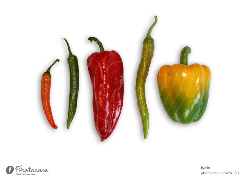 Green Red Yellow Style Vegetable Delicious Juicy Pepper Selection Food Chili