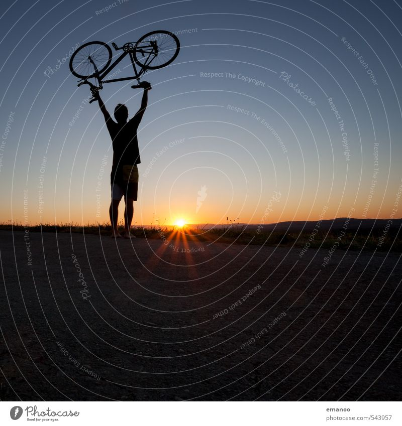 cyclists Lifestyle Style Joy Vacation & Travel Trip Freedom Cycling tour Summer Sun Mountain Sports Fitness Sports Training Sportsperson Human being Young man