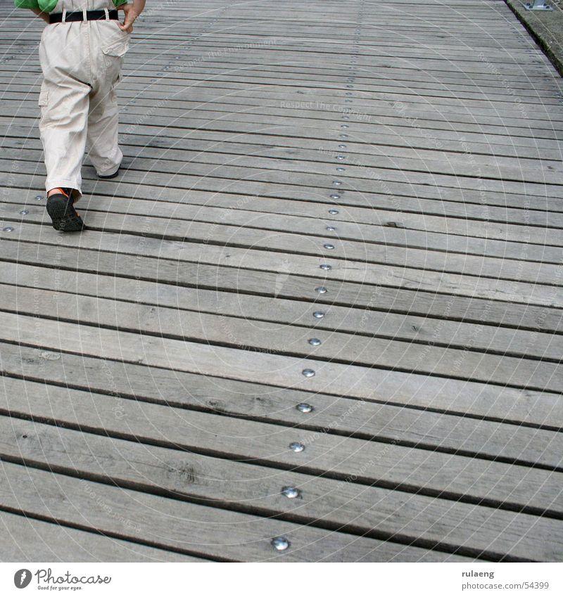 Child Going Walking Pants Square Footbridge Screw Belt