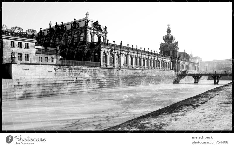 from the kennel Dresden Zwinger old building black/white Building Architecture