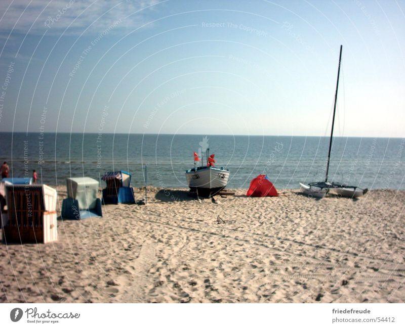 Baltic Sea, Zinnowitz August 2003 Beach Ocean Beach chair Watercraft