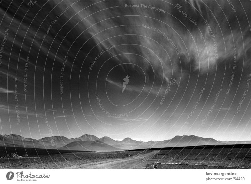 Sky Mountain Landscape Glittering Desert Border South America Chile Bolivia