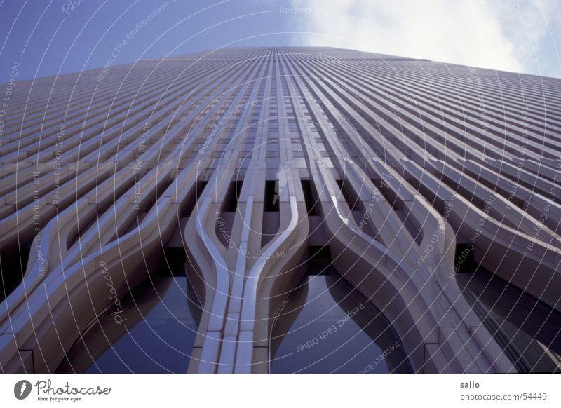 Colour Glass Facade USA Analog Steel Americas New York City Manhattan Slide New York